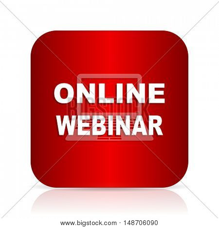 online webinar red square modern design icon