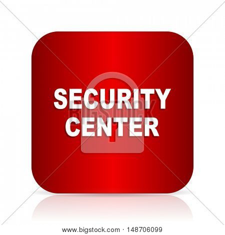 security center red square modern design icon