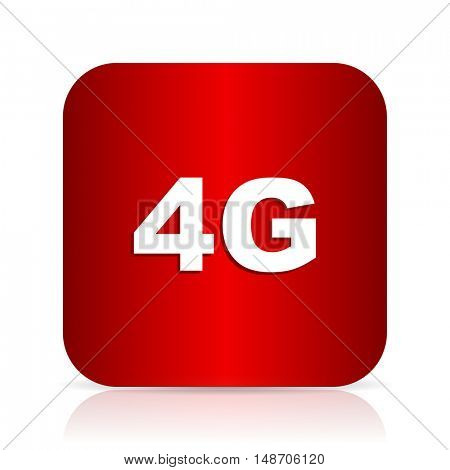 4g red square modern design icon