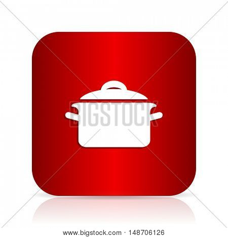 cook red square modern design icon
