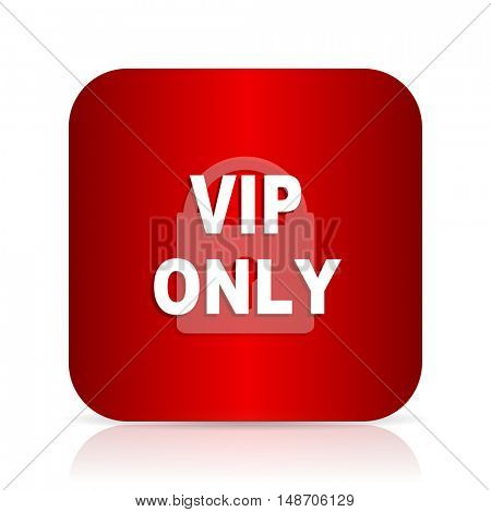 vip only red square modern design icon
