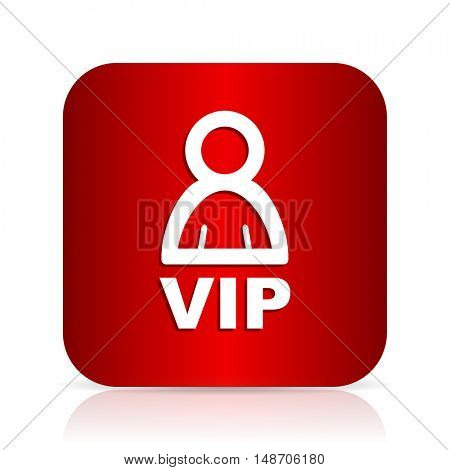 vip red square modern design icon