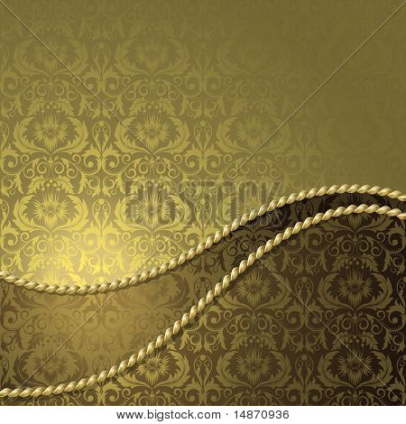 Brown And Gold Background