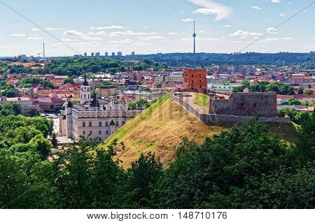 Lower Castle And The Tower Vilnius Of Lithuania