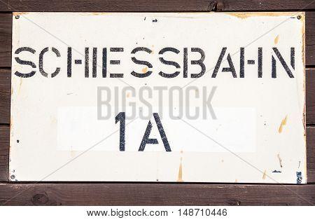 a german Schiessbahn