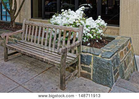 Bench In George Washington University In Washington Dc