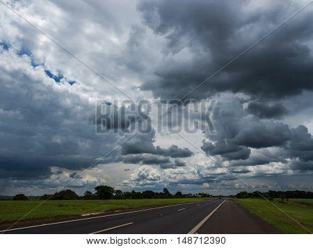Sky and dark clouds nature air scenic scene