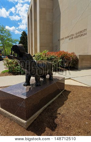 Hippopotamus Statue At Lisner Auditorium