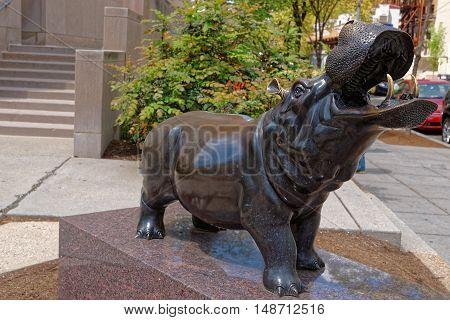 Hippopotamus Statue Near Lisner Auditorium