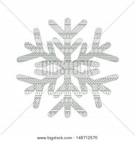 Christmas card with blue snowflake in vector