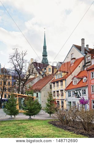 Look At The Livu Square In Old Town Of Riga