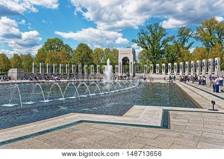 National World War Ii Memorial In Washington Dc Us