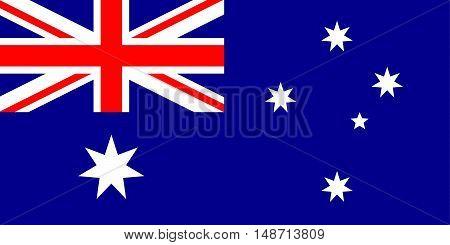 Illustration of the national flag of Australia