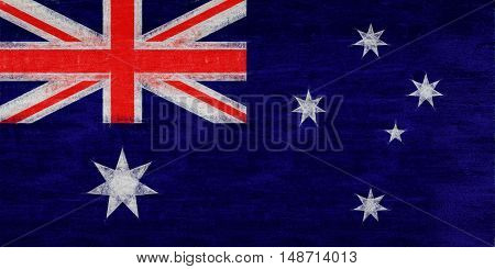 Illustration of the flag of Australia with a grunge look