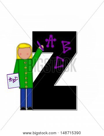 Alphabet Children Abcs Z