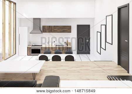 Kitchen In Studio Flat