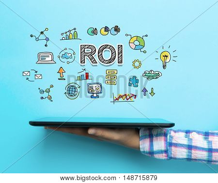 Roi Concept With A Tablet