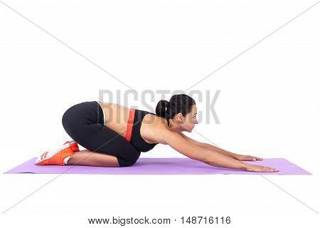 Girl Making An Asana