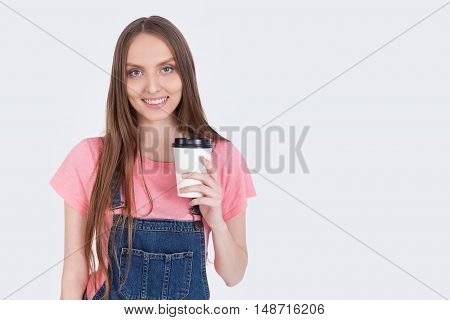 Cheerful Coffee Girl