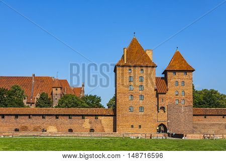Malbork Castle In Pomerania Region Of Poland