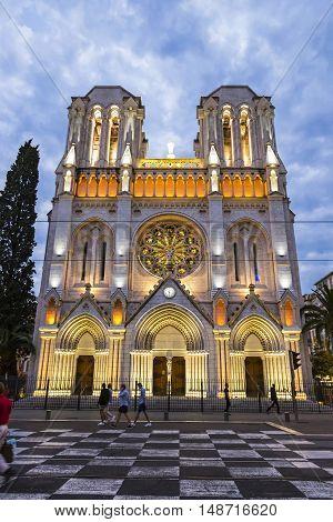 Basilique Notre Dame De Nice, France