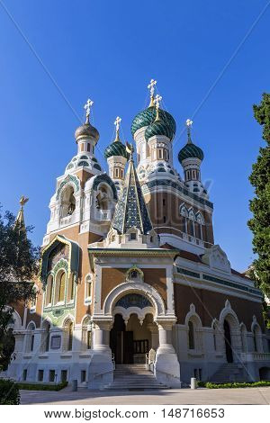 Russian Orthodox Cathedral In City Of Nice, France