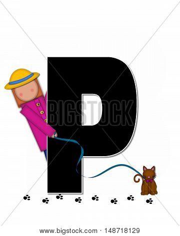 Alphabet Children My Pets P