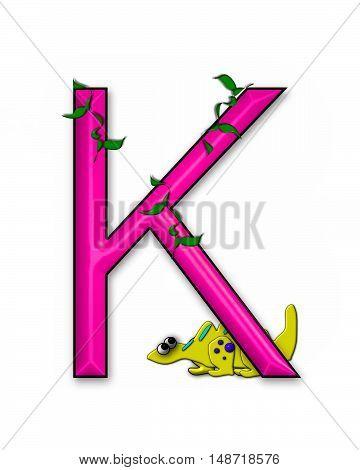 The letter K in the alphabet set
