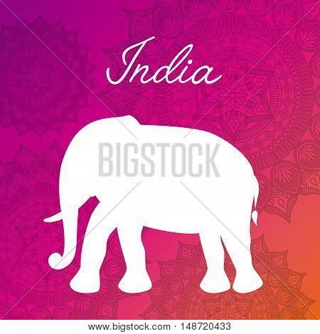 india culture travel icon vector illustration design