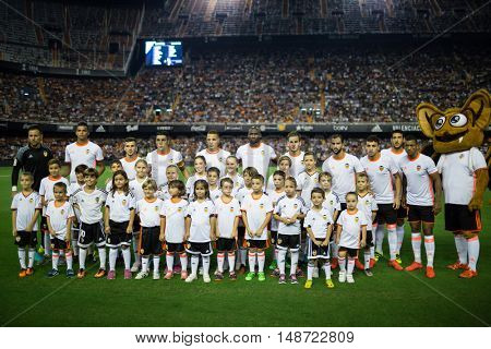 VALENCIA, SPAIN - SEPTEMBER 22nd: during Spanish soccer league match between Valencia CF and Deportivo Alaves at Mestalla Stadium on September 22, 2016 in Valencia, Spain