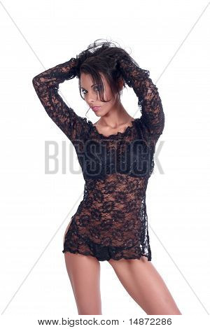 Young Female Model In Lingerie