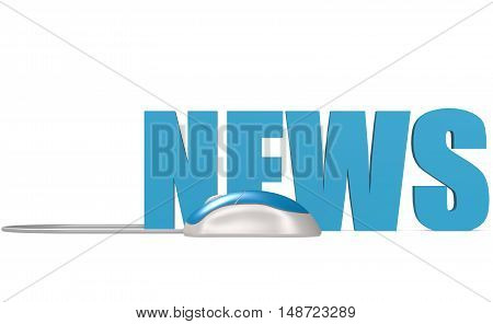 Computer Mouse With News Word