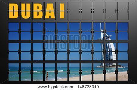 Airport Display Board Of Dubai