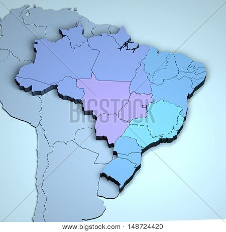 Brazil 3D contry geographical land Brazil brazilian