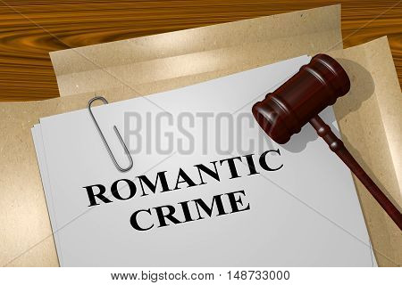 Romantic Crime - Legal Concept