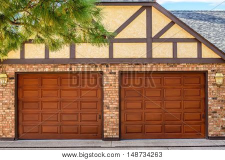 Garage door in Vancouver, Canada.