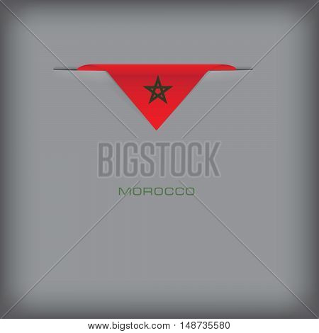 Banner with stylized Morocco flag. Vector illustration.