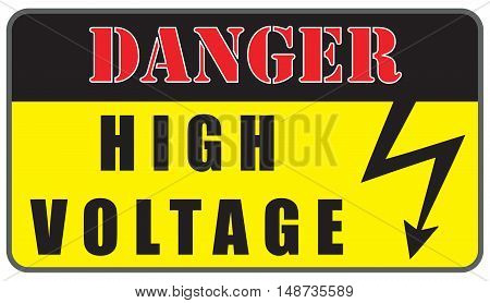 Warning plate Electrical Hazard High Voltage Sign.