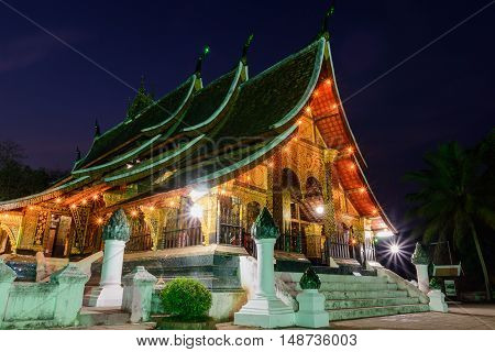 Wat Xieng thong temple is the most popular temple Luang Pra bang Laos