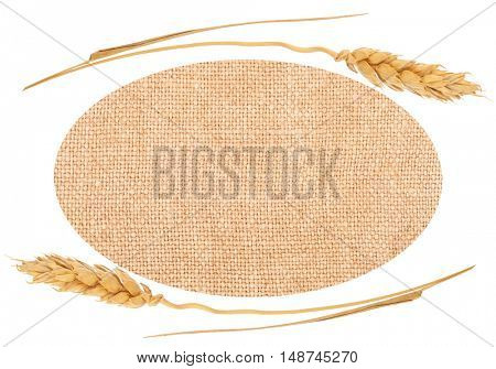 Sackcloth material and ears of wheat