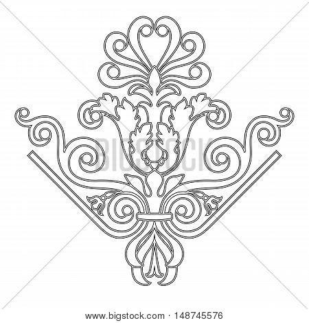 Corner pattern, vintage pattern, baroque pattern, frame pattern, scroll pattern, border pattern, floral pattern,  ornamental pattern. vector