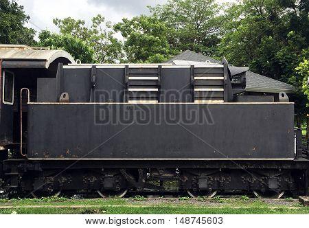 Vintage Train Railway Transportation Elevation