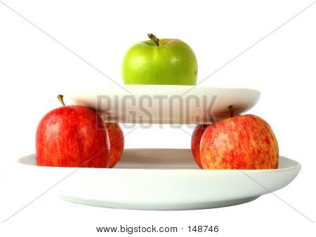 Apples On Plates