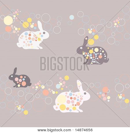 Cute seamless rabbit pattern