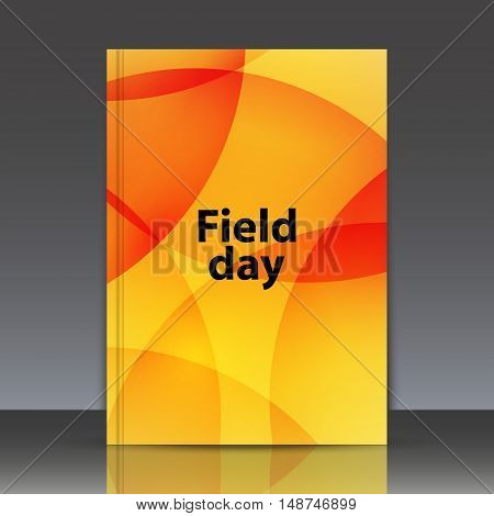 Abstract composition circle ornament round figure interlacement a4 brochure title sheet field day lettering sunny bubble surface logo construction trademark backdrop EPS 10 vector