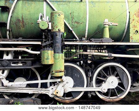 Closeup Vintage Train Railway Transportation