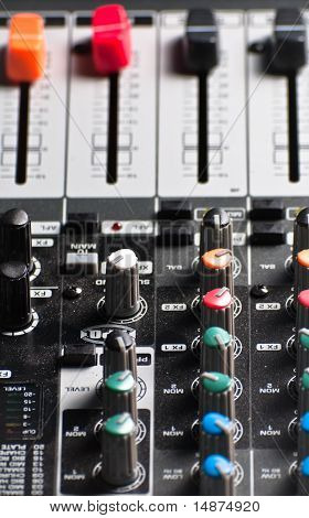 Texture Of An Audio Sound Mixer
