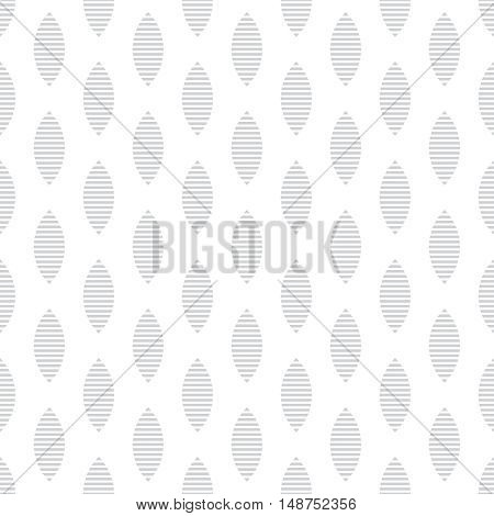 Vector seamless pattern. Abstract wrapping paper surface. Classical simple geometric texture. Regularly repeating striped ovals ellipses. Graphical design element