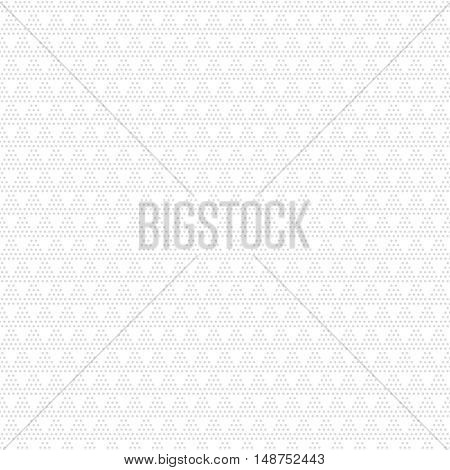 Vector seamless pattern. Modern geometric texture with regularly repeating dotted triangles. Abstract digital paper