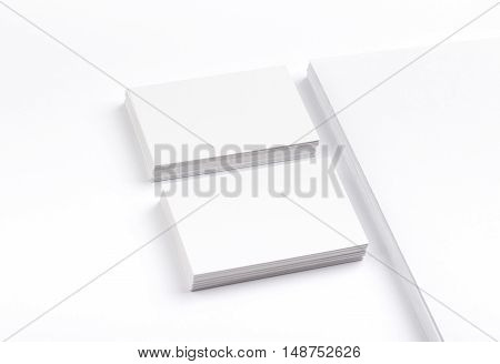 Business Cards Isolated On White